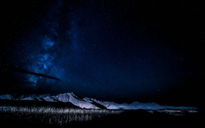Обои Nebraska, горы, ночь, млечный путь, небо, звезды