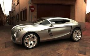 Картинка серый, серебристый, концепт, кроссовер, Maserati Kubang