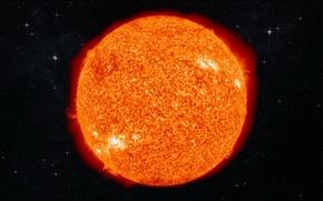 Картинка солнце, космос, сияние, фотография, space, sun, звёзда