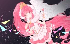 Картинка девушка, крылья, сердечко, HappinessCharge Precure!, Aino Megumi, Super Happiness Lovely