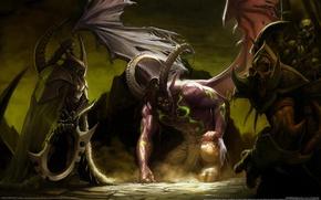 Обои дьявол, WoW, черт, World of Warcraft, Illidan