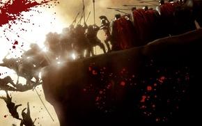 Обои бой, Кровь, 300 спартанцев