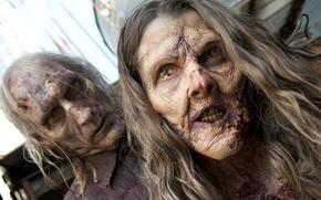 Картинка zombies, woman, man, the walking dead