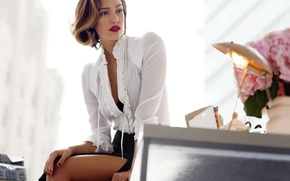 Картинка взгляд, девушка, ноги, женщина, модель, звезда, красота, актриса, красавица, Джессика Альба, красотка, jessica alba, латинка, …