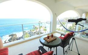 Картинка дизайн, дом, стиль, вилла, интерьер, балкон, терраса, villa, oceanfront