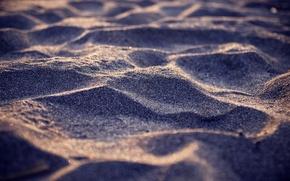 Обои песок, море, берег, побережье, фокус, размытие, песчинки, пески, широкоформатные обои, пляжи, камешки, макро обои, widescreen ...