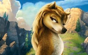 Обои Кейт, волк, Мультфильм, лес, Альфа и Омега