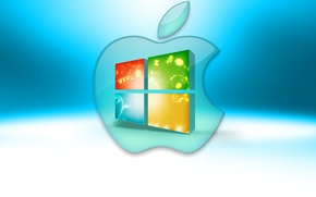 Картинка компьютер, apple, логотип, mac, эмблема, windows, операционная система