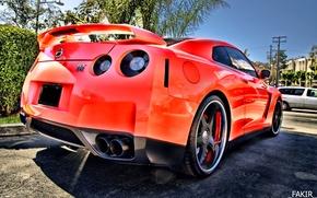 Картинка Машина, Nissan, красная, gt-r