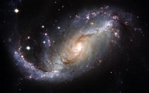 Обои звезды, спираль, Галактика