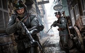 Картинка город, война, улица, игра, солдаты, немцы, Electronic Arts, Battlefield 1
