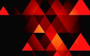 Картинка абстракция, фон, треугольники, грани