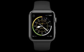 Картинка Apple, часы, Часы, Калифорния, матрица, меню, iOS, Retina, Apple Watch, Купертино