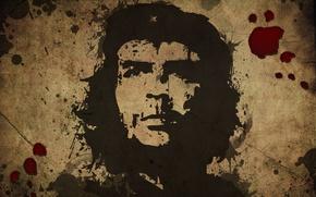 Обои портрет, че гевара, кровь, свобода
