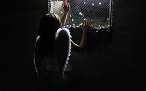 Обои ангел, девушка, тюрьма