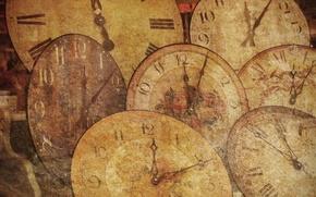 Обои старинные, стрелки, часы
