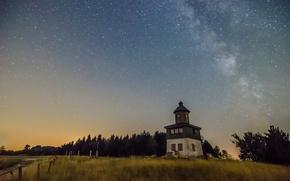 Картинка tower, Milky Way, countryside