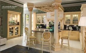 Картинка дизайн, стиль, комната, вилла, интерьер, кухня