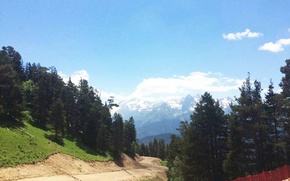 Картинка дорога, горы, Кавказ