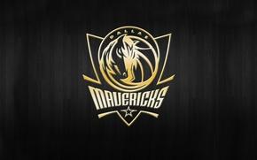 Картинка Баскетбол, Фон, Логотип, Золото, NBA, Dallas Mavericks