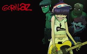 Картинка стиль, гитара, мердок, gorillaz