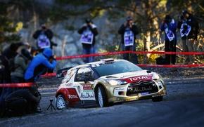 Обои Спорт, Машина, Люди, Поворот, Ситроен, Citroen, DS3, WRC, Rally, Ралли