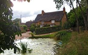Картинка город, фото, улица, дома, Великобритания, Sibford Gower Oxfordshire