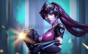 Картинка девушка, оружие, красота, blizzard, fps, Overwatch, Widowmaker