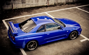 Обои ниссан, blue, Nissan, р34, skyline, r34, синий, gt-r