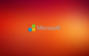 Картинка windows, microsoft, orange, hi-tech