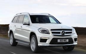 Картинка дорога, авто, Mercedes-Benz, в движении, AMG, Sports Package, BlueTec, GL 350
