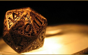 Картинка golden, dice, numbers, dungeons and dragons, Role playing
