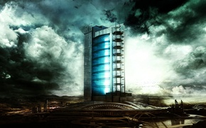 Картинка city, future, sci-fi, building
