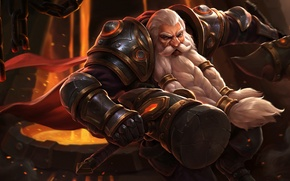 Картинка hon, Dwarf, art, Heroes of Newerth, Lord, blacksmith