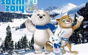 Картинка олимпиада, сочи 2014, Sochi 2014, зимние олимпийские игры, талисманы