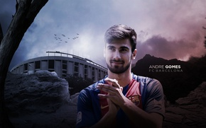 Картинка wallpaper, sport, football, player, FC Barcelona, Andre Gomes