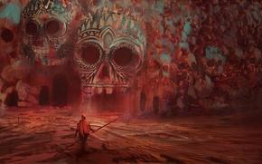 Картинка Человек, Фантастика, Скелеты