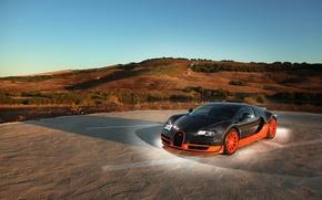 Обои суперкар, bugatti veyron, 16.4, super sport, тюнинг