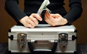 Картинка man, money, hands, aluminum, briefcase for money