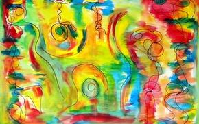 Обои абстракция, цвет, форма
