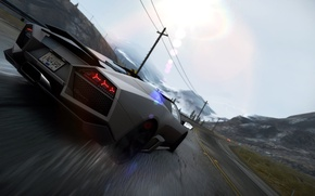 Картинка Lamborghini, Reventon, Drift, 2010, Need for Speed, Hot Pursuit