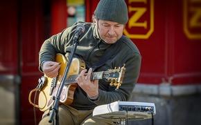 Картинка человек, музыка, гитара