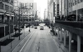 Картинка Чикаго, улица, небоскребы, Иллиноис, здания, дома, город