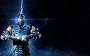 Картинка blue, ninja, Sub-Zero, Mortak Kombat X
