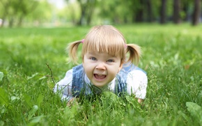 Обои парк, дети, ребенок, детство, child, grass, smiling, happiness, park, childhood, children, счастье, stylish little girl, ...