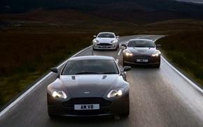 Обои Дорога, Движение, Aston Martin V8