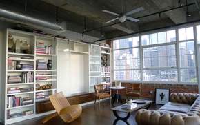 Картинка windows, white, Department, books, furniture, shelving