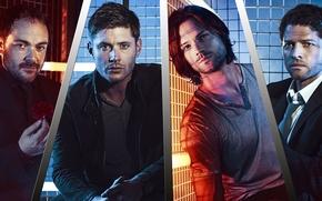 Картинка Supernatural, Jensen Ackles, Сверхъестественное, Dean Winchester, Sam Winchester, Jared Padalecki, Castiel, Misha Collins, Сериалы, Mark …