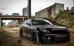 Картинка black, mazda, tuning, rx-8