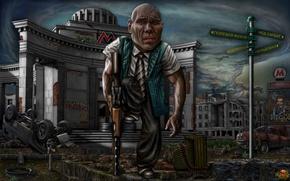 Картинка юмор, Москва, руины, Валуев